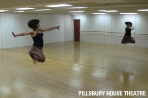 Pramila Vasudevan in the dance studio.