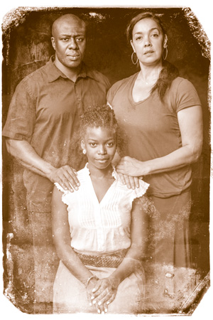 Ansa Asyea, George Keller, and Traci Allen in THE ROAD WEEPS, THE WELL RUNS DRY