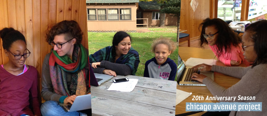 Professional playwrights help Pillsbury House youth work on their scripts.