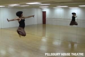 Pramila Vasudevan in the dance studio.